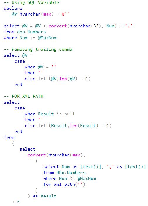 select max in sql